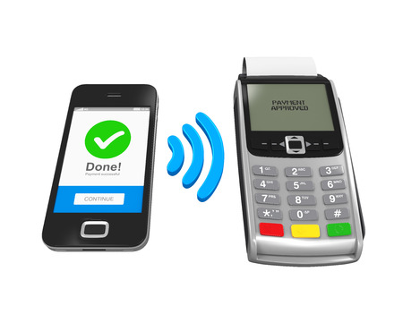 nfc: POS Terminal with Smartphone
