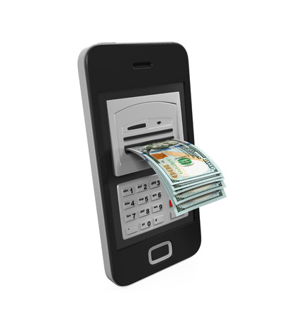 mobile banking: Mobile Banking Concept Stock Photo