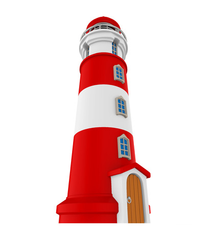 tower tall: Red Lighthouse Isolated