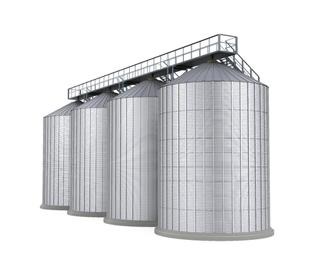 grain storage: Agricultural Silo Isolated