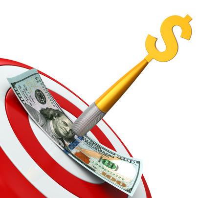 dolar: El dinero y los dardos