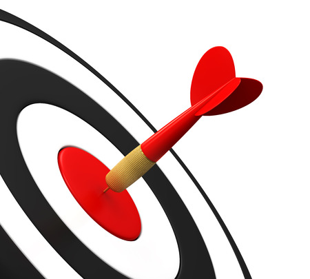 dart board: Arrow Darts and Target
