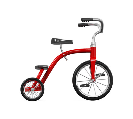 pedal: Kids Tricycle Isolated