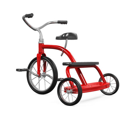 tricycle: Kids Tricycle Isolated