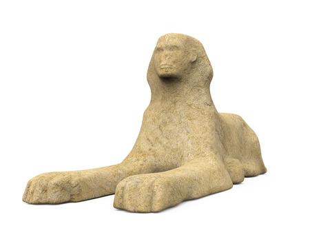 Egyptian Sphinx Statue Stock Photo