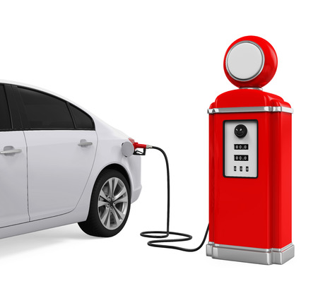 refueling: Car Refueling at Gas Station