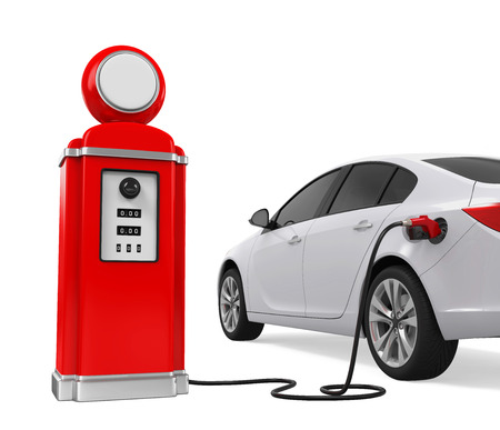 fueling pump: Car Refueling at Gas Station