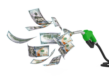 refueling: Gas Pump Nozzle and Dollar