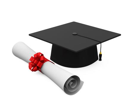 alumna: Graduation Cap and Diploma