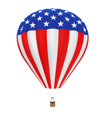 Hot Air Balloon with Flag of United States