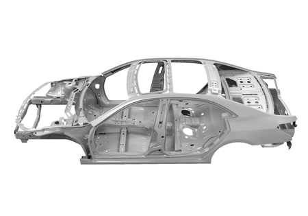 Unibody Chassis voiture Banque d'images