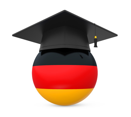 Graduation Cap with German Flag