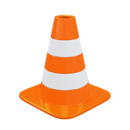 caution: Traffic Cone Isolated