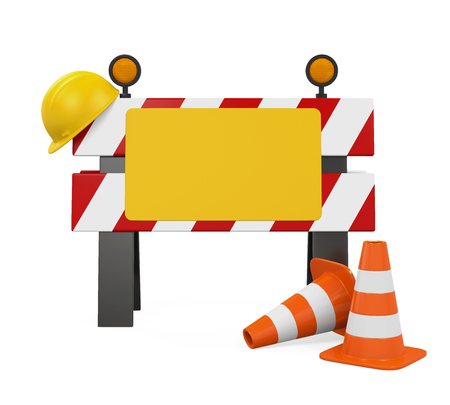 cone: Under Construction Barrier, Traffic Cones and Safety Helmet