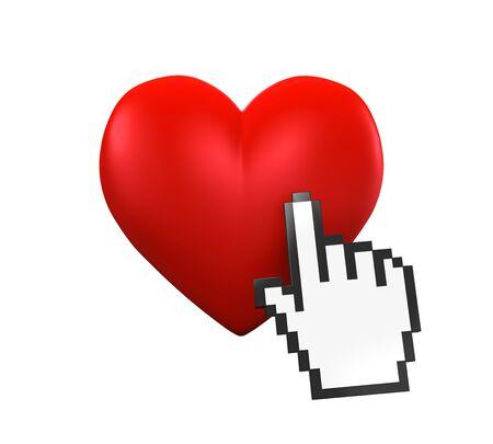 likes: Heart Shaped and Hand Cursor