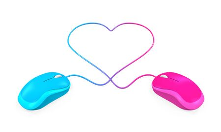 likes: Heart Shaped and Computer Mouse Stock Photo