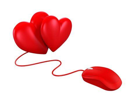 myszy: Heart Shaped and Computer Mouse Zdjęcie Seryjne
