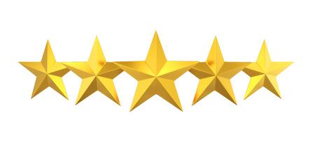 Five Golden Stars Banque d'images
