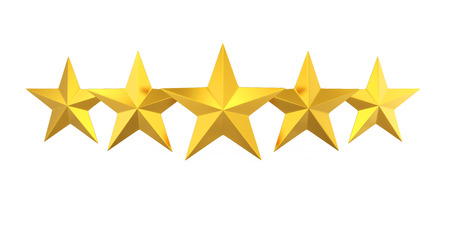 Five Golden Stars Stockfoto