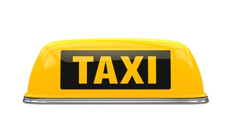 street symbols: Yellow Taxi Sign Stock Photo