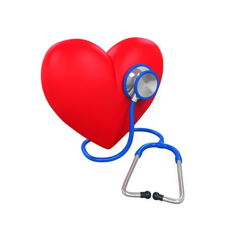 cardiologist: Heart and Stethoscope Stock Photo