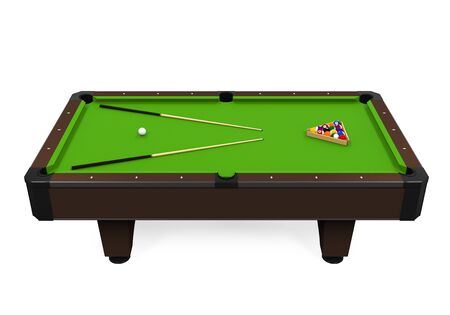 Green Billiard Table Stock Photo