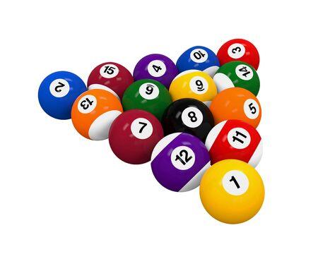 billiard: Set of Billiard Balls