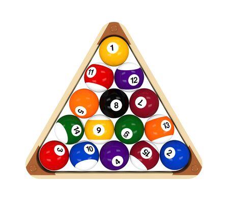 cue ball: Set of Billiard Balls