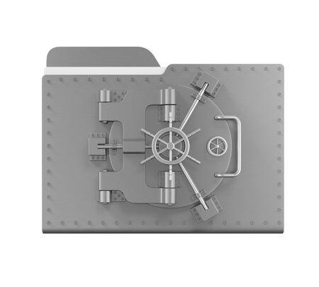 steel: Steel Folder Vault Stock Photo