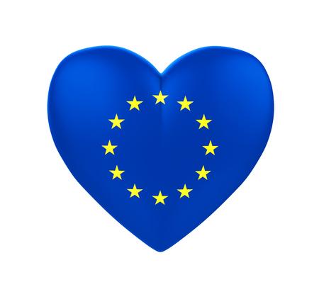 European Union Flag Heart