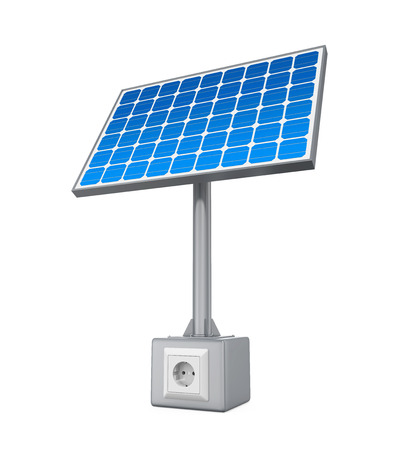electric socket: Solar Panel with Electric Socket