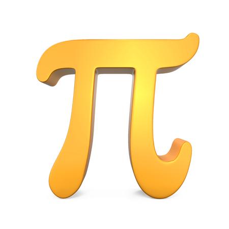 signos matematicos: Símbolo del pi de oro Foto de archivo