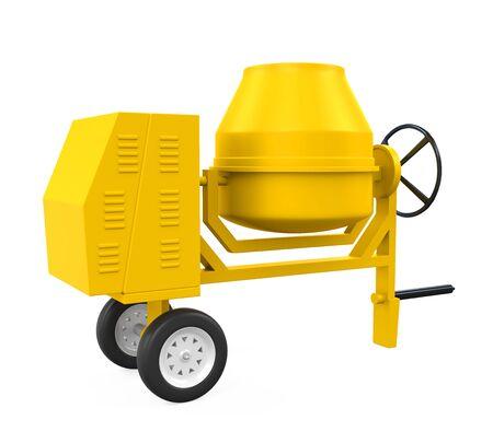 steel drum: Yellow Concrete Mixer Stock Photo