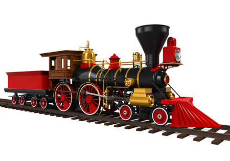 Oude Locomotief Trein Stockfoto