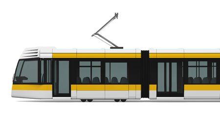 tramcar: Commuter Train Stock Photo