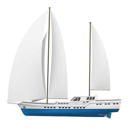 Sail Boat Isolated