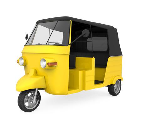 rikscha: Gelb Auto-Rikscha