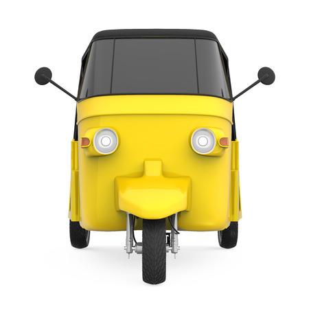 Yellow Auto Rickshaw Stock Photo