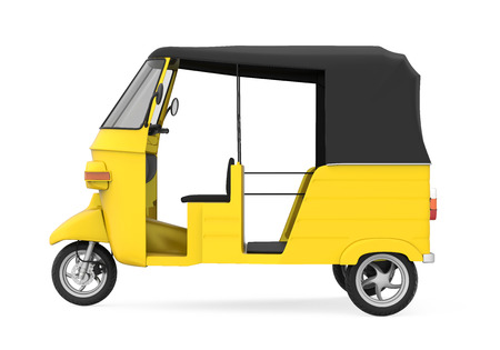 Yellow Auto Rickshaw Stock Photo