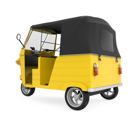 auto rickshaw: Yellow Auto Rickshaw Stock Photo
