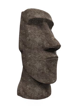 moai: Moai Statue Isolated