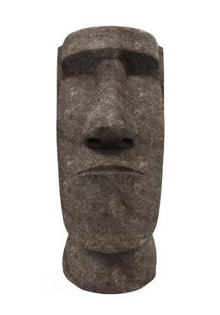 rano raraku: Moai Statue Isolated