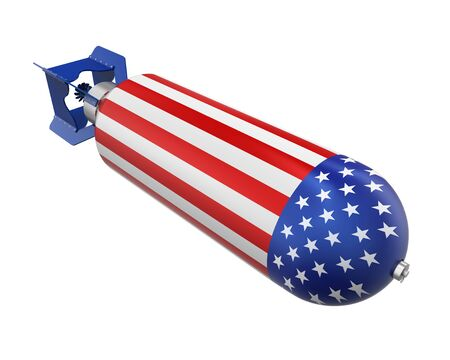 atomic bomb: Atomic Bomb with United States Flag