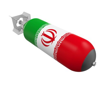 bombe atomique: Bombe atomique avec le drapeau iranien