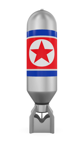 nuclear bomb: Atomic Bomb with North Korea Flag