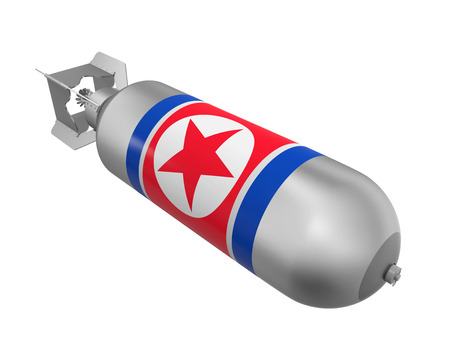 atomic bomb: Atomic Bomb with North Korea Flag