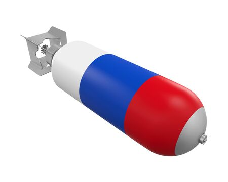 Atomic Bomb with Russian Flag