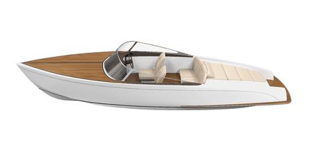 Speedboat Isoliert