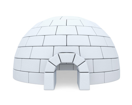 ice brick: Igloo Ice House Stock Photo