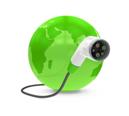 Electric Vehicle Charging Plug and Globe